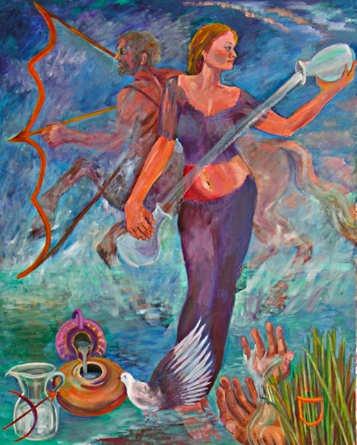 , 'TEMPERANCE from the Journey of the Tarot Series,' 2009, Alpha 137 Gallery
