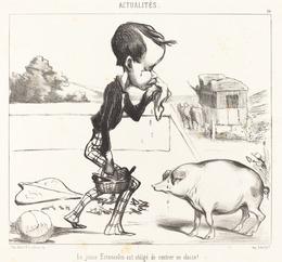 Honoré Daumier, 'Le Jeune Estancelin est obligé de rentrer en classe!', 1849, National Gallery of Art, Washington, D.C.