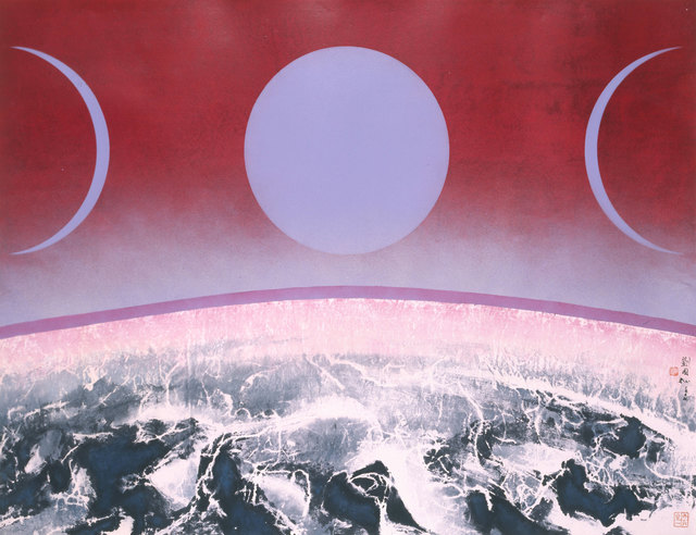 , 'Purple Moon,' 2008, 首都藝術中心 Capital Art Center