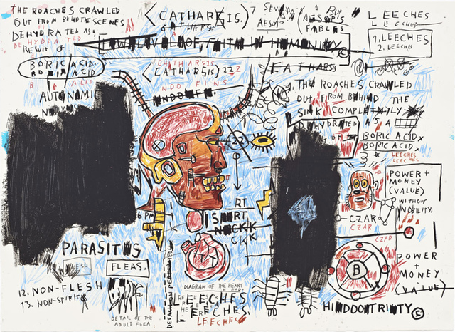 Jean-Michel Basquiat, 'Leeches', 1982-1983/2017, Print, Screen print on paper, Hang-Up Gallery