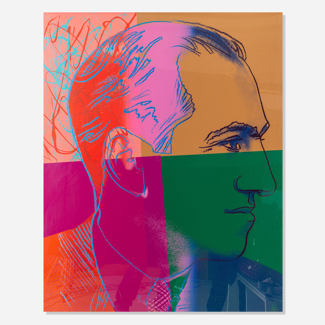 Andy Warhol, 'George Gershwin, from Ten Portraits of Jews of the Twentieth Century', 1980, Print, Screenprint in colors on Lenox Museum Board, Artsy x Rago/Wright