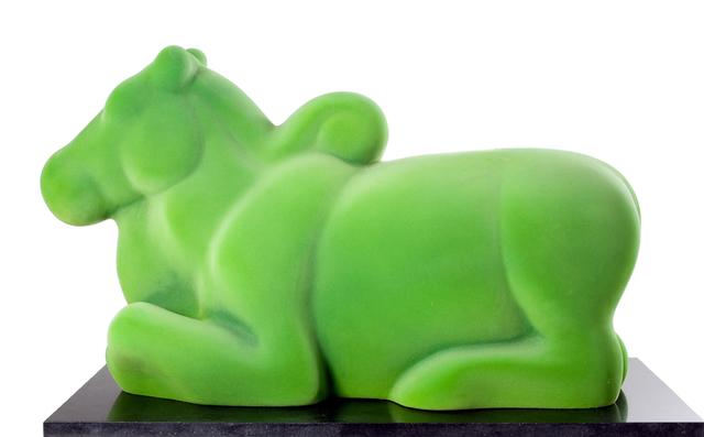 Arunkumar H. G., 'Nandi in green', 2008, Sculpture, Velvet on fiberglass, Museum of Art & Photography