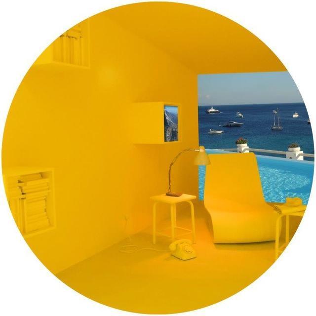 Vered Rosen, 'Salone del Mobile (Design fair in Milan), Background: Mykonos (Greece)', 2018, Photography, Sublimation Print on Chromalux Aluminum Board, ZK Gallery