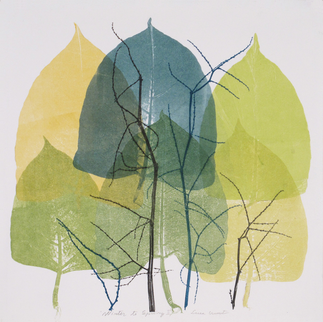Luca Cruzat, 'Winter To Spring II', 2020, Print, Collagraph on arches paper, Karin Weber Gallery
