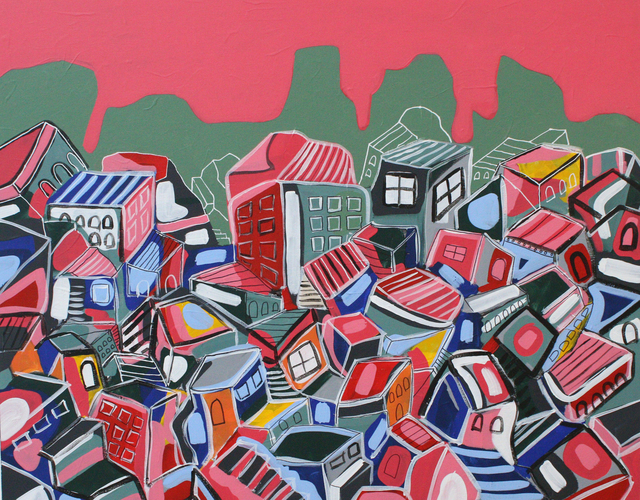 , 'A Pile of Houses,' 2015, Al Ma'mal Foundation for Contemporary Art