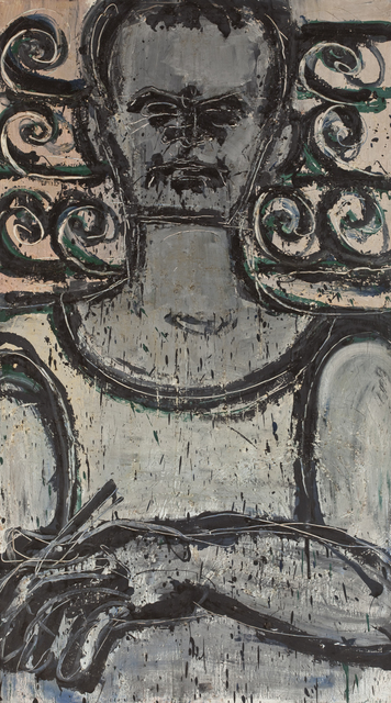 , 'Self Portrait with Wrought Iron Fence,' 1967, David Klein Gallery
