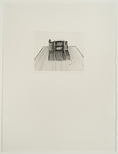 , 'Cafe Table (from Delights),' 1964, Allan Stone Projects