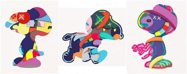 KAWS, 'No Ones Home, Stay Steady & The Things That Comfort', 2015, Print, Screen prints in colours on Saunders Waterford paper, Tate Ward Auctions