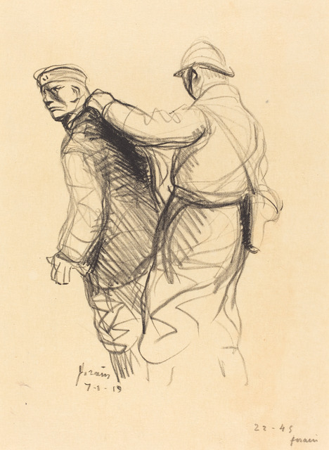 Jean-Louis Forain, 'The German Expelled', 1919, Print, Lithograph, National Gallery of Art, Washington, D.C.