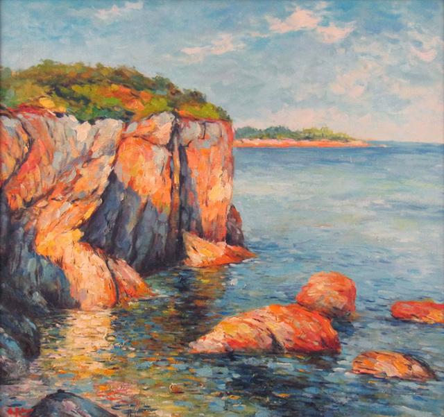 Georges Peter, 'Mediterranean Coastal Scene', ca. 2000, Janus Galleries