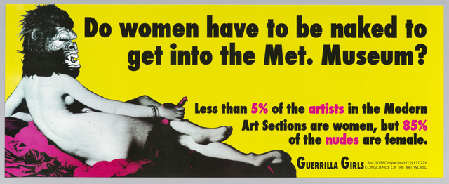 , 'Do Women Have to Be Naked to Get into the Met. Museum?,' 1989, Museum Ludwig