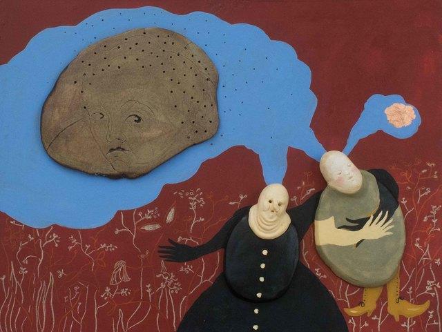 , 'el pensamiento compartido y la idea,' 2016, Lux Perpetua Art Centre