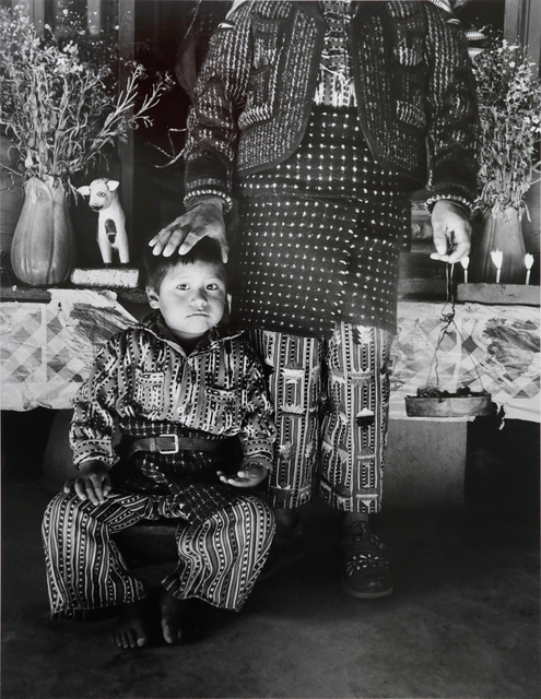Flor Garduño, 'Member of A Confraternity and Son, Solola, Guatemala', 1989, Michael Dawson Gallery