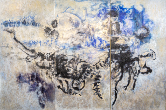 Patrick Joël Tatcheda Yonkeu, 'Indigo dreamer', 2017, Painting, Oil and pigments on paper on canvas, OH GALLERY