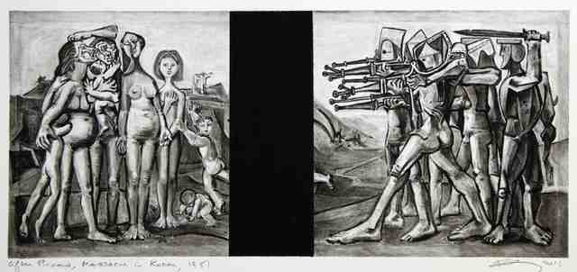, 'Untitled (After Picasso, Massacre in Korea, 1951),' 2016, Cahiers d'Art