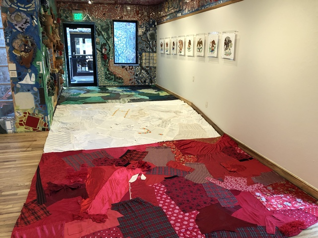 , 'Allá Abajo (Floor Installation),' 2017, Philadelphia's Magic Gardens