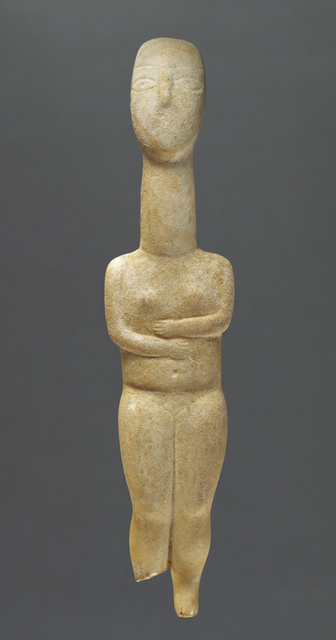 'Female Figure of the Precanonical type', 2800 BCE-2700 B.C., J. Paul Getty Museum