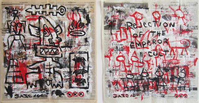 Gary John, 'Untitled', 2010, Painting, Acrylic on newsprint, Wallspace
