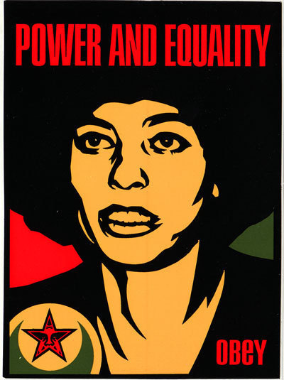 Shepard Fairey, 'Power and Equality Angela', 1998, EHC Fine Art