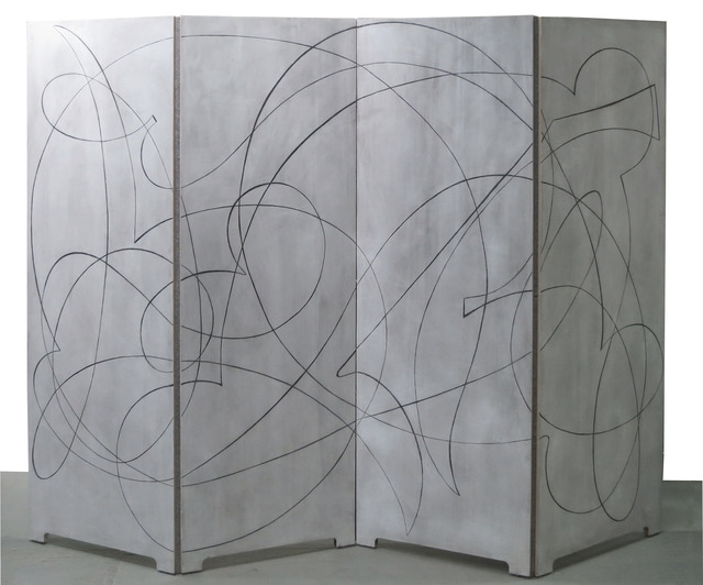 , 'A double-sided folding screen in four panels,' 2014, Vance Trimble