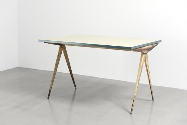"""Jean Prouvé, 'Cafétéria n°512 table, a.k.a """"Compas"""" table', 1953, Galerie Patrick Seguin"""
