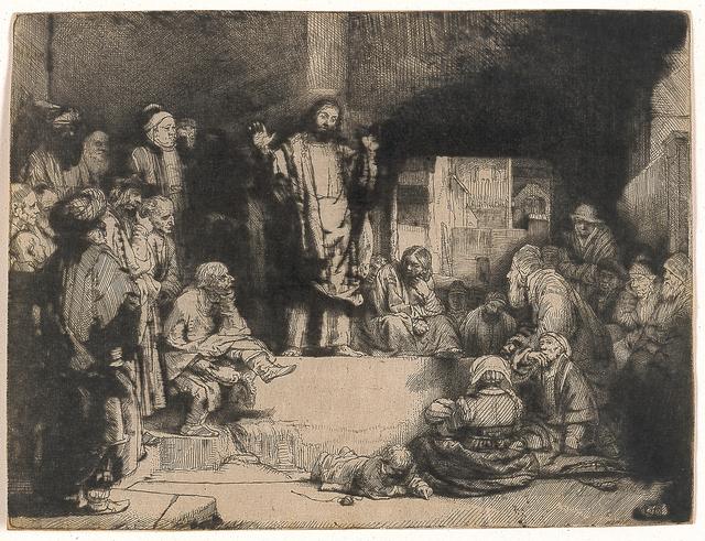Rembrandt van Rijn, 'Christ Preaching (La Petite Tombe)', 1651, Blanton Museum of Art