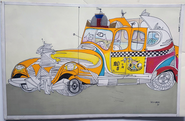 """Saul Steinberg, 'Untitled """"New York Taxi Cab""""', 1948, David Lawrence Gallery"""