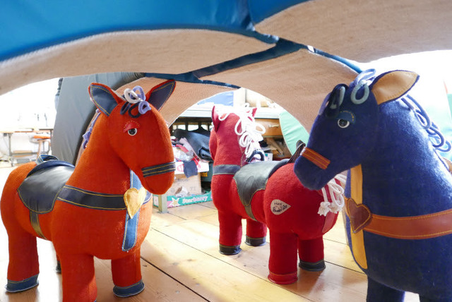 Renate Müller, 'Therapeutic Toy Magic Horse in blue, designed and made by Renate Müller,' 2015, R & Company