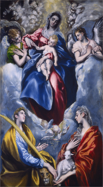 El Greco, 'Madonna and Child with Saint Martina and Saint Agnes', 1597/1599, National Gallery of Art, Washington, D.C.
