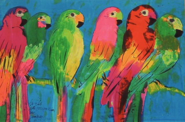 , 'Six Parrots,' 1989, Bert Kuipers Kunsthandel