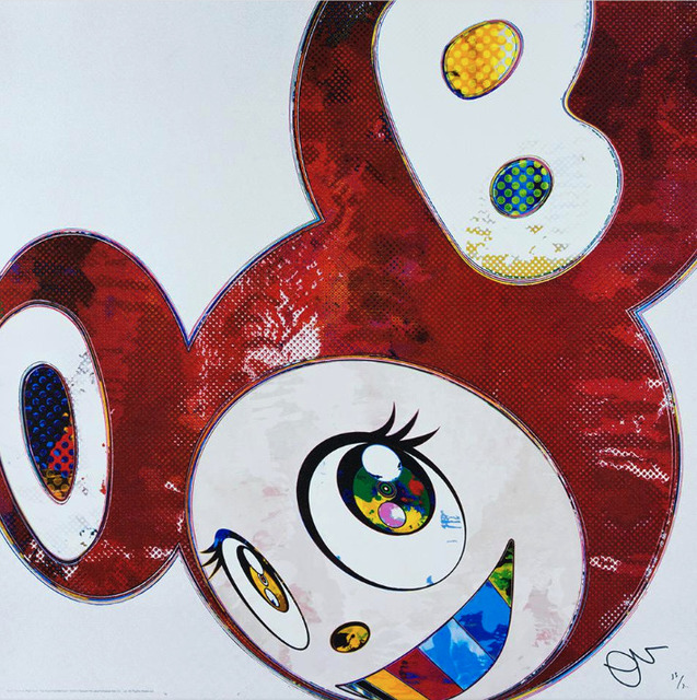 Takashi Murakami, 'And Then x6 Red Dots: The Superflat Method', 2016, Print, Offset print, with silver and high gloss varnishing, gallary. los angeles