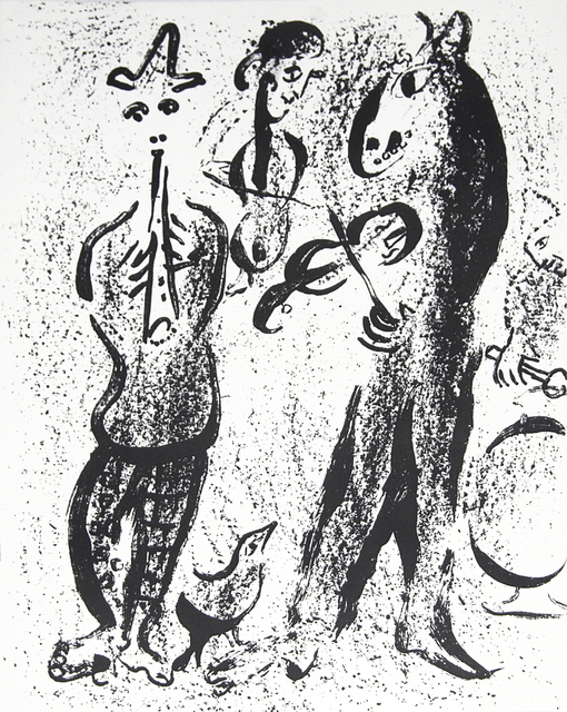 Marc Chagall, 'Itinerant Players', (Date unknown), Ephemera or Merchandise, Stone Lithograph, ArtWise