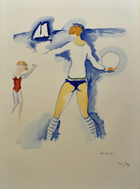 Kees van Dongen, 'Woman on the Beach, Trouville (Femme Sur la Plage, Trouville)', 1966, Gilden's Art Gallery