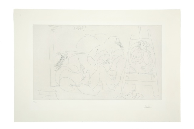 Pablo Picasso, '347 series. Artist with an Erection and Model Fondling Herself (Bloch 1781)', 1968, Print, Etching on BFK Rives paper, Forum Auctions