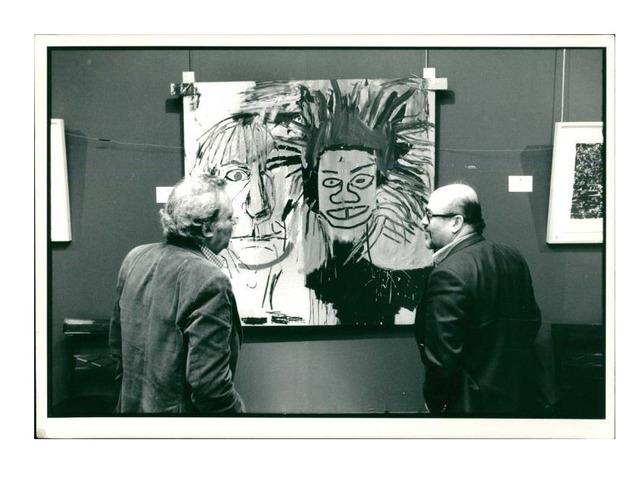 "Jean-Michel Basquiat, 'Jean Michel Basquiat's ""DOS CABEZAS"" (1982), Original Press Photo. 1988, Sotheby's New York', 1988, VINCE fine arts/ephemera"