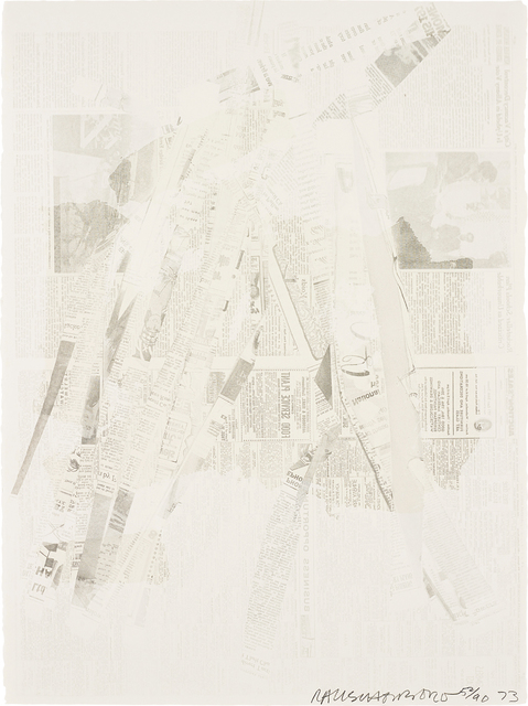 Robert Rauschenberg, 'Untitled, from Hommage à Picasso', 1973, Print, Offset lithograph with screenprint in colours, on Arches paper, the full sheet., Phillips