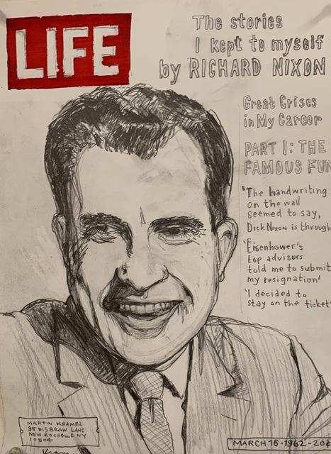 , 'Life Magazine Richard Nixon,' 2018, MULHERIN