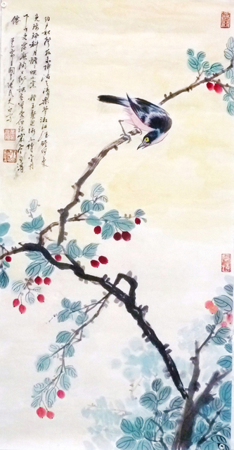 Zhang Yanyun, 'Memeries of JiangNan 忆江南 ', Drawing, Collage or other Work on Paper, Ink and colour on paper, Tian Bai Calligraphy and Painting (天白書畫)