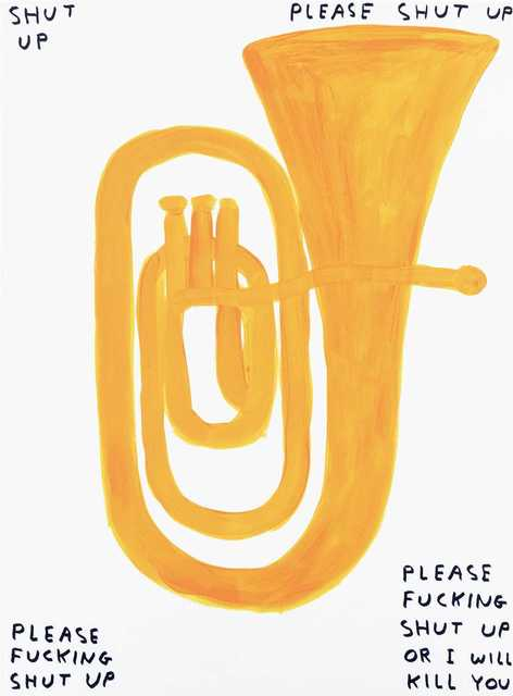 David Shrigley, 'Shut Up', 2018, Tate Ward Auctions