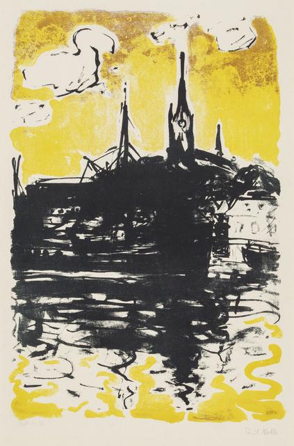Emil Nolde, 'Church and Boat, Sonderburg', 1907/1915, Galerie St. Etienne