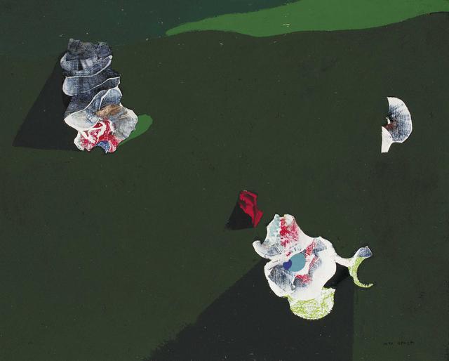 , 'Ombres et fleurs or Fleurs sur fond vert,' 1928, Galerie Boulakia