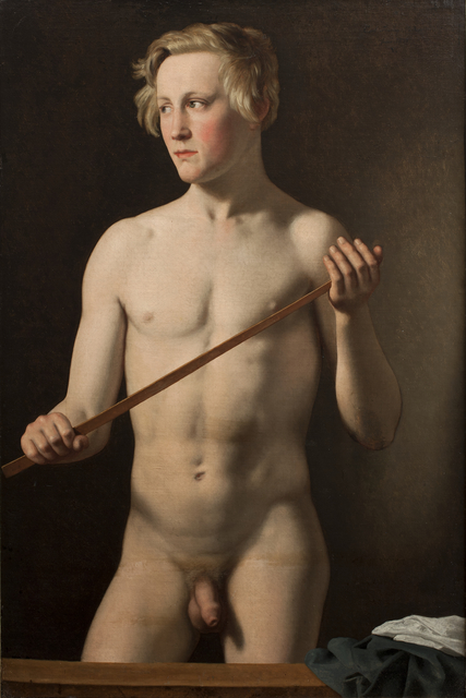 , 'Standing Male Model, Carl Frørup,' 1837, Statens Museum for Kunst