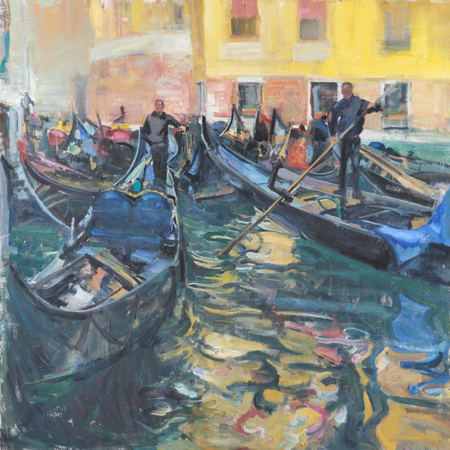 , 'Black Gondolas,' 2018, Vail International Gallery