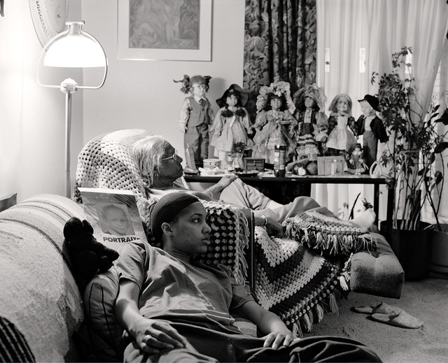 , 'Grandma Ruby and Me in Her Livingroom,' 2007, Light Work