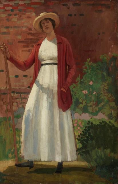 , 'Lyndra in the Garden,' 1912, Christopher Kingzett Fine Art