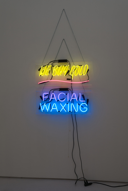 , 'We Buy Gold Facial Waxing,' 2012, Roberts & Tilton