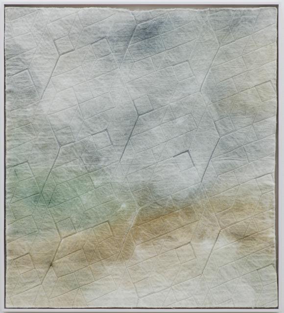Raul Walch, 'NonWoven Semaphore: Rhone', 2020, Mixed Media, Non-woven fabric, earth pigments, acrylic, thread, Aki Gallery