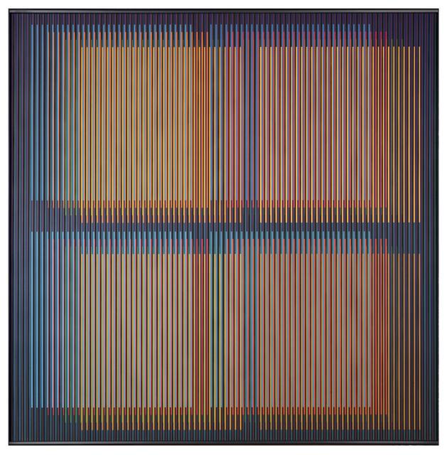 Carlos Cruz-Diez, 'Chromointerference Spatiale Paris 2', 2014, La Patinoire Royale / Galerie Valerie Bach