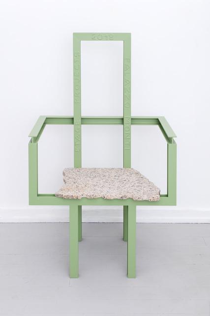 Fredrik Paulsen, 'Palazzo Iron Armchair', 2018, Design/Decorative Art, Iron, granite, Palazzo Monti