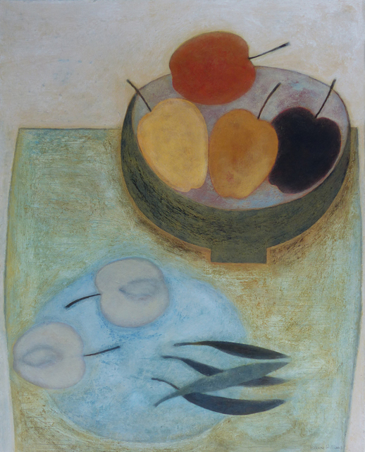, 'Blue Plate, Apples & Beans,' 2018, Thackeray Gallery